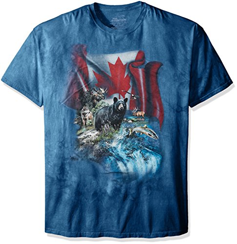 The Mountain Men's Canada The Beautiful T-Shirt, Blue, Large (Shirt Canada compare prices)