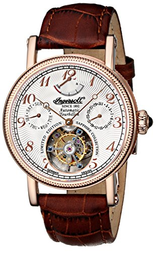 Ingersoll-Mens-IN5308RWH-Raton-Tourbillon-Analog-Display-Automatic-Self-Wind-Brown-Watch