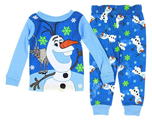 Disney Frozen Little Boys' Olaf & Sven Snowflake 2 Piece Pajama Set (2T)