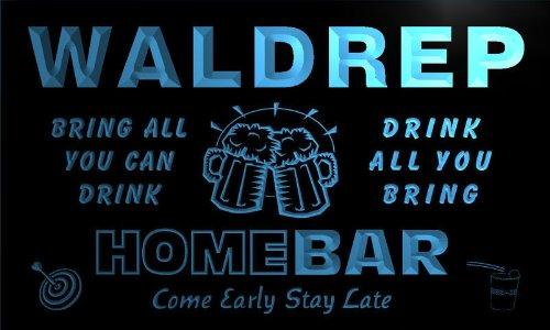q47445-b WALDREP Family Name Home Bar Beer Mug Cheers Neon Light Sign