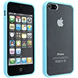 niceEshop(TM) Baby Blue Bumper with Ultra Clear Hard Back Case Cover for the Apple iPhone5 5S +Screen Protector