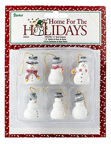 Miniature Christmas Ornaments Snowmen 2460-92