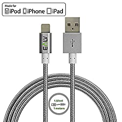 E LV (1M) USB Cable Premium Quality, Durable and Fast Charging Data Sync Type C Reversible USB Charging Data Cable - GREY