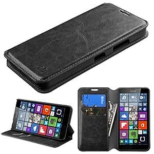 MyBat My Jacket Wallet with Tray for Microsoft Lumia 640 - Retail Packaging - Black