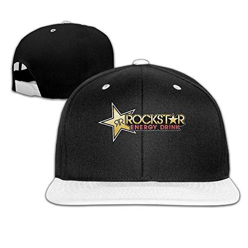 1c8dfe24d6bdf0 Cool Rockstar Adjustable Baseball Cap (8 Colors) White