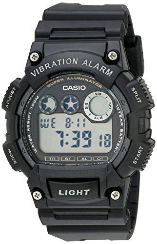 Casio Men's W735H-1AVCF Super Illuminator Watch With Black Resin Band