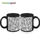 HomeSoGood Thumbs Up To Coffee Mugs (2 Mugs)