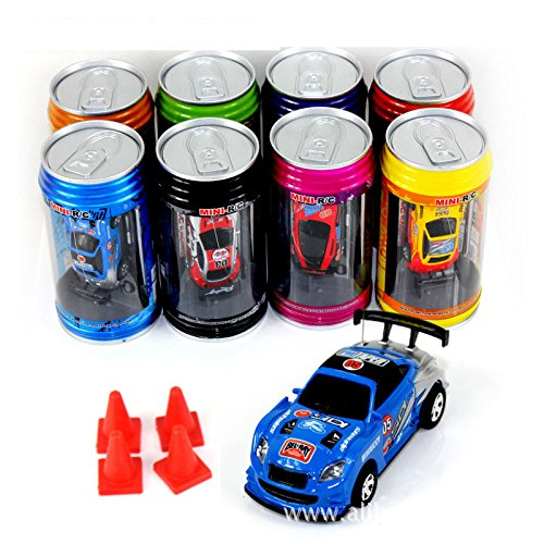 Bhbuy Multi color Coke Can Mini Speed RC Radio Remote Control Micro Racing Car Toy Gift (Car In A Can compare prices)