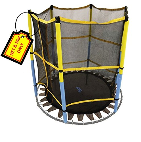 Trampoline-Replacement-Jumping-Band-Mat-With-Attached-Safety-Net-For-Bounce-Pro-55-Kids-Airzone-Dora-the-Explorer-Trampoline-with-Safety-Enclosure-Net-Mat-ONLY-Clips-Included