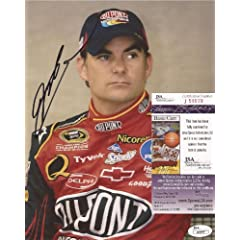 Jeff Gordon Nascar Legend Signed Autographed Posed 8x10 Photo JSA COA #j50939 by Hollywood Collectibles