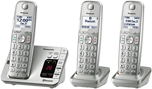 panasonic kx tge463s link2cell bluetooth cordless phone with answering machine 3 handsets