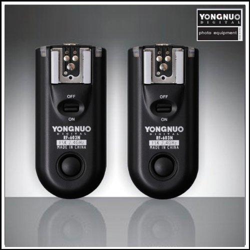 Yongnuo RF-603 N1 2.4GHz Wireless Flash Trigger/Wireless Shutter Release Tranceiver Kit for Nikon D1/D2/D3/D200/D300/D700