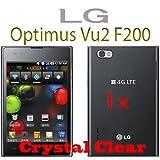BORA 2x LG Optimus Vu2 F200, HQ Screen Protector Crystal Clear, Korea 1