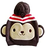 (エレナ) elena さる 子供用 ニット 帽子 猿 写真撮影 防寒 赤ちゃん ベビー (XS 44cm)