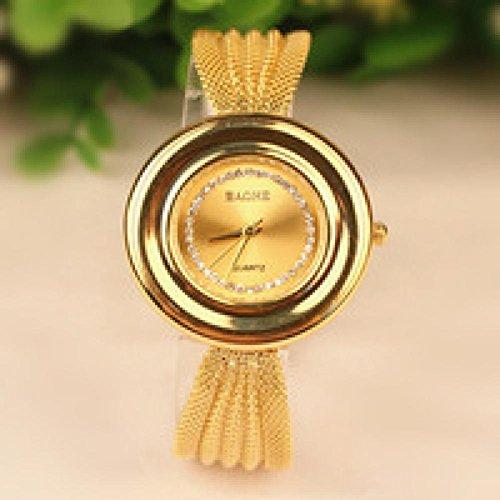 SunShine Day Hot Sale Golden Bracelet Bangle Watch Women Luxury Wristwatch Artificial Diamond Set Dress Watch Crystal Casual Wristwatch Clock
