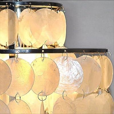 White Sea Shell Drop Chandelier Ceiling Lamp Lighting Light Pendant Flush MountGY#583-4 6-DFG230659