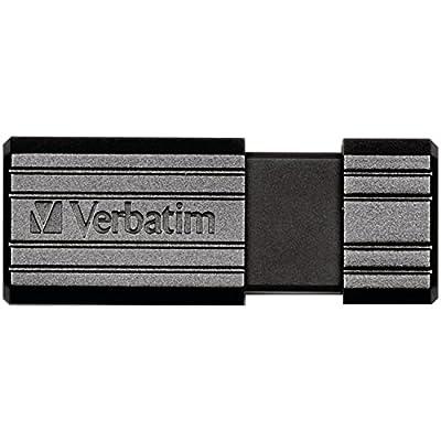 Verbatim 16 GB PinStripe USB 2.0 Flash Drive, Black 49063