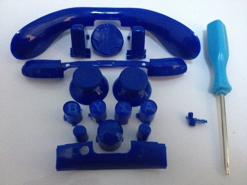 Xbox 360 Complete Blue Kit Thumbsticks D-Pad Sync Lb/Rb Bumper Lt/Rt Trigger And Abxy/Guide Buttons