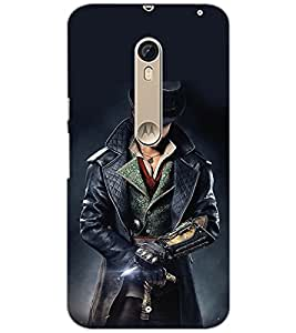 PrintDhaba WOLF MAN D-6416 Back Case Cover for MOTOROLA MOTO X STYLE (Multi-Coloured)