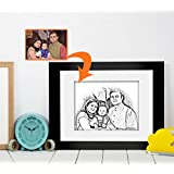 Fathers Day | Gift For Dad | Birthday Gift For Dad | Photo Frame(11x9)inch With Personalized Photo(7x5)inch By Tied Ribbons