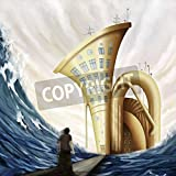 Artzloom Man Standing On Bridge Near Tuba House In Ocean In Fantasy World, Digital Painting Canvas Art Print Without...