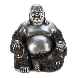 Gifts & Decor Happy Sitting Buddha Inspirational Religious Statue