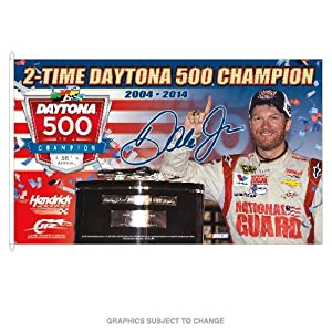 Dale Earnhardt Jr 2014 Daytona 500 2-Time Champion 3x5 Flag by Wincraft by WinCraft