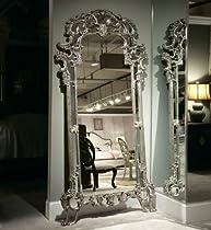 Hot Sale American Drew Jessica Mcclintock Silver Veil Floor Mirror