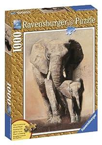 Ravensburger Elephant Family - 1000 Piece Wooden Structure Puzzle
