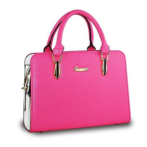 DELEY Donne Fascino Grande Capacità Top Handle Tote Handbag OL Tracolla Valigetta Borsa Borsetta Satchel Bag Rose Rossa B