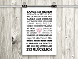 artissimo, Poster mit Spruch, Din A4, PE0041-DR, Tanze im...