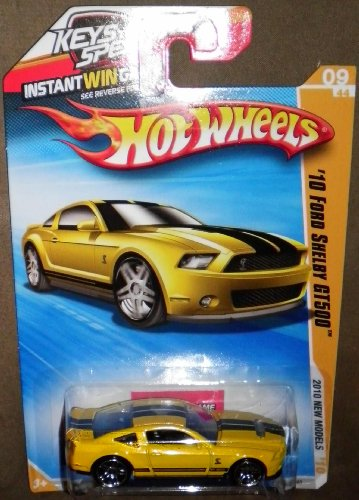 HOT WHEELS 2010 NEW MODELS 09/44 YELLOW '10 FORD SHELBY GT500 009/240 - 1