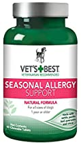 Vet's Best Seasonal Allergy Support Dog Supplements, 60 Chewable Tablets