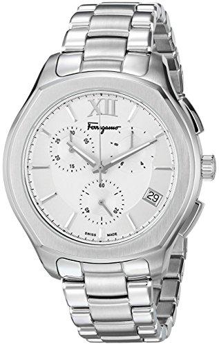 Salvatore-Ferragamo-Mens-LUNGARNO-CHRONO-Quartz-Stainless-Steel-Casual-Watch-ColorSilver-Toned-Model-FLF990015