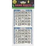 Amscan 255571 Bingo Game Sheet Embellishment, 4-Inch x 8-Inch, 125-Pack