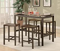 Big Sale Atlas 5-Piece Dining Set in Matte Brown - Coaster - 150096