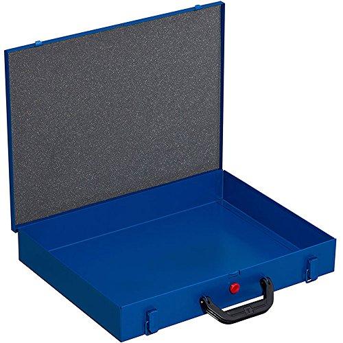 Kleinteilekoffer, Stahlblech, EuroPlus Metall 44/1x63, blau, leer, dicht schließend
