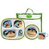 Merritt Monkey Business Childrens Melamine Dinnerware Gift Set