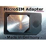 MicroSlM Adapter (Farbe: Schwarz) f�r lPhone 4 + lPad Mlcro SlM Karten zur Verwendung als normale SlM-Karte