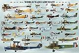 World War I Aircraft Educational Poster