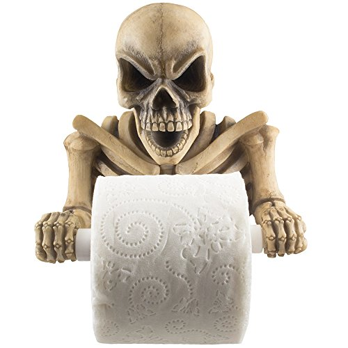 Grinning Grim Reaper Skeleton Paper Holder Evil Skeleton Decorative Toilet Paper Holder