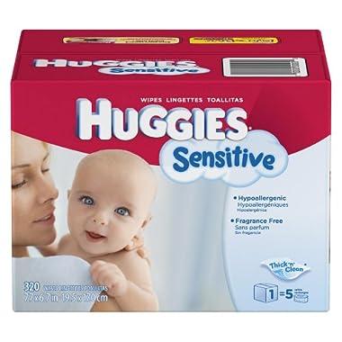 Huggies Gentle Care Sensitive Baby Wipes 320ct