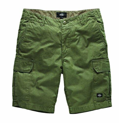 Dickies - New York, Pantaloni corti da uomo, Verde (Dark Olive), taglia produttore: 34