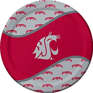 Buy Creative Converting 8 Count Washington State Cougars Paper Dinner Plates by Creative Converting