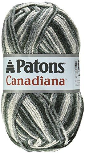 Spinrite Canadiana Yarn, Ombres, Grey