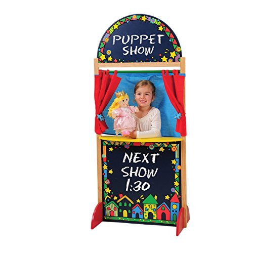 CP-Toys-Kid-sized-Hardwood-Puppet-Theater-with-Chalkboard