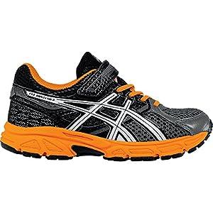 ASICS Pre Contend 3 PS Running Shoe (Little Kid), Carbon/White/Orange, 13 W US Little Kid