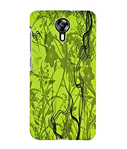 Fuson 3D Printed Floral Pattern Designer Back Case Cover for Micromax Canvas Xpress 2 E313 - D974