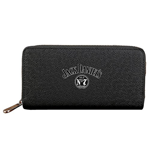 Jack Daniels Retro Logo Wallet For Men Women - Black Credit Card Wallet - 4