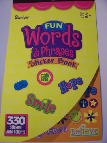 Darice Sticker Book ~ Fun Words & Phrases (330 Stickers)